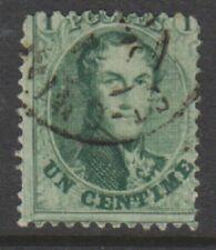 Belgium - 1863/5, 1c Green - Perf 12 1/2 x 13 1/2 - F/U - SG 20
