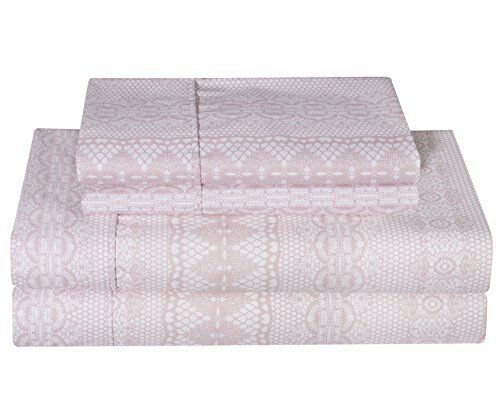 Ellen Tracy Ultra-Soft Double Brushed Microfiber Printed 4pc Bed Sheet Set - du