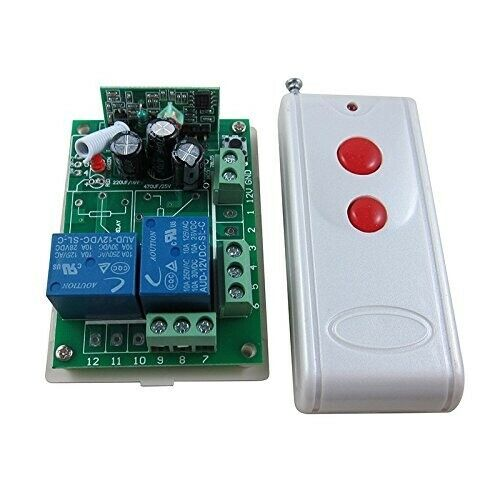 12V 2 Channel Way Control Receiver Switch Relay Output Programmable+500m Remote
