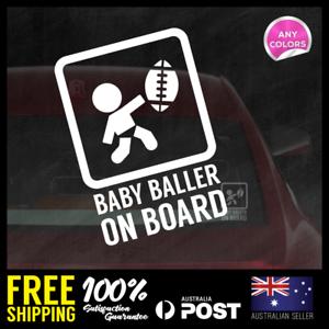 Baby-Baller-On-Board-156x110mm-Funny-Baby-Boy-Girl-Dadlife-Mumlife-Footy-AFL