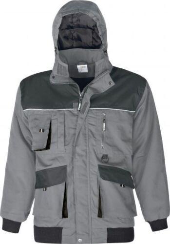 Triuso Winterjacke Jacke Power wind und wasserabweisend grau-schwarz Gr S-5XL