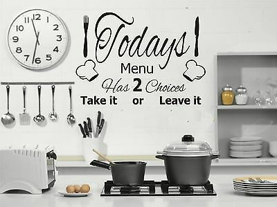 Restaurant wall sticker vinyl decal menu of the day cafe kitchen food sign r3