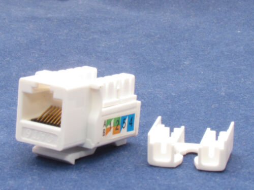 25 X Pcs lot Keystone Jack CAT6 White Network Ethernet 110 Punch Down 8P8C RJ45