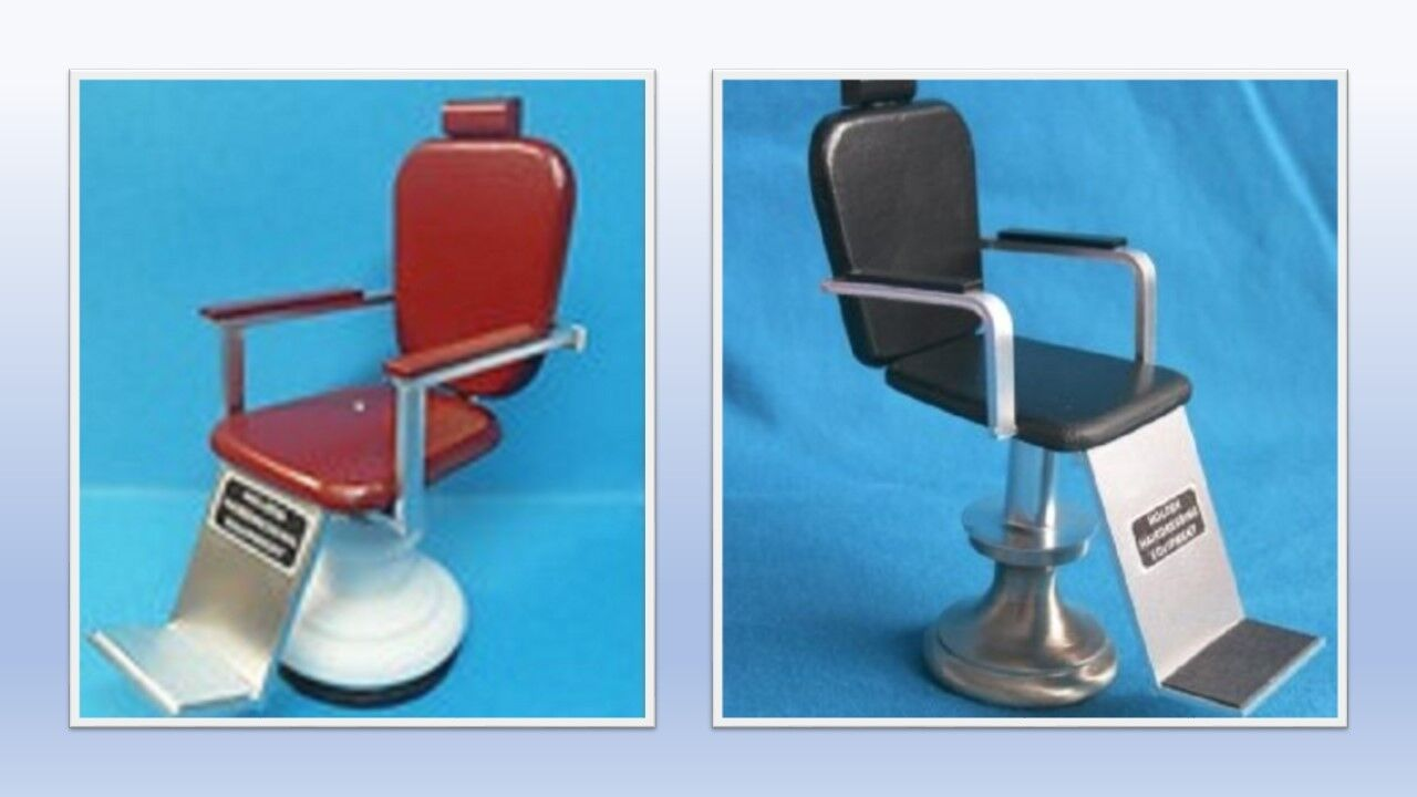 1 12 scale dolls house miniature handmade barbers chair 2 to choose from.
