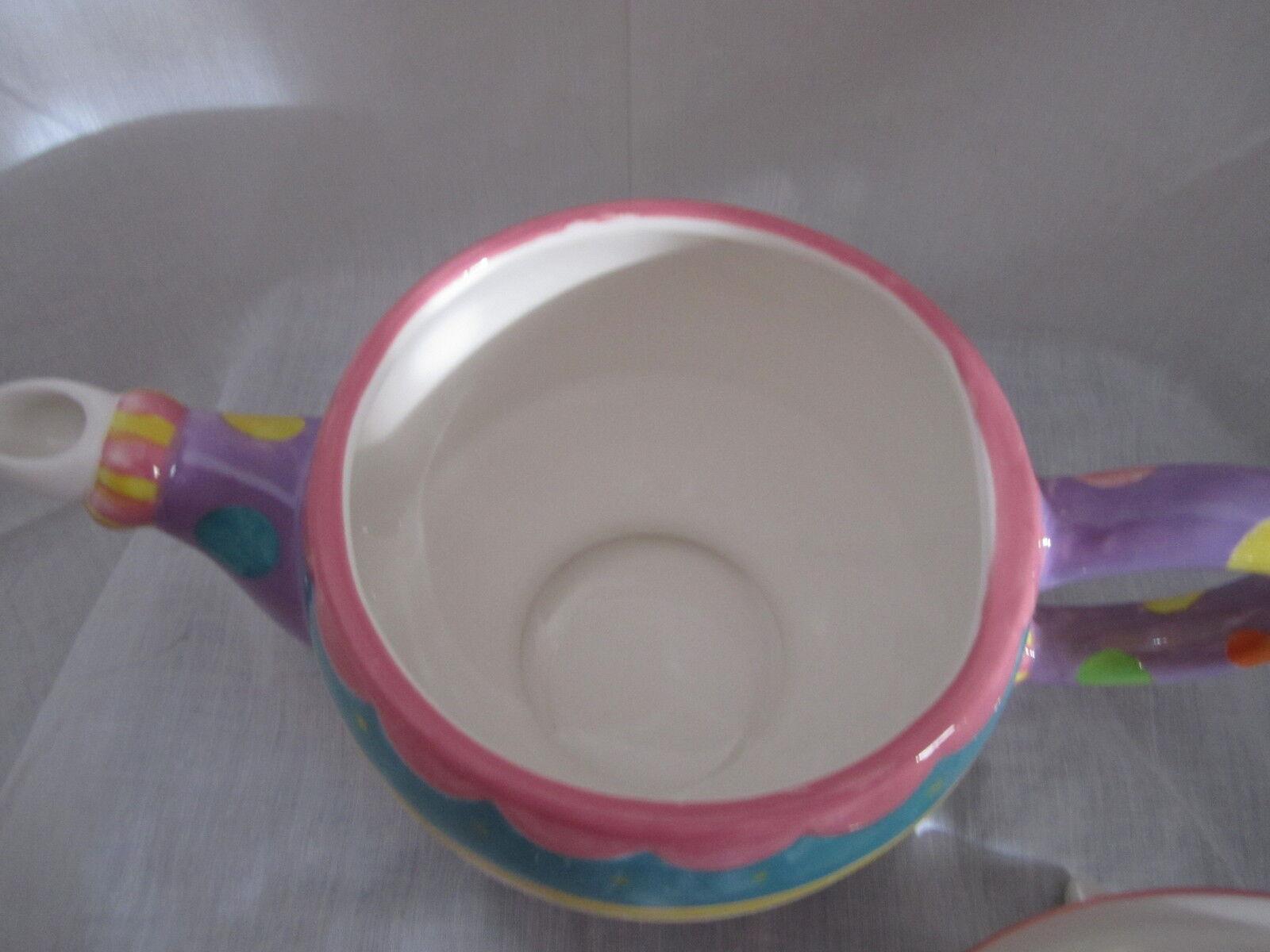 Fitz & and Floyd Easter Hoppy Days Teapot Item Item Item  653-103 NEW in BOX 7fdbe0