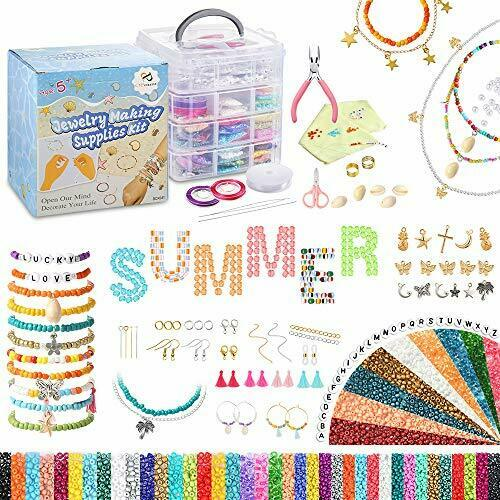 Jewelry Making Kit Set 31100PCS Beads for Bracelets Necklaces Glass Seed Beads
