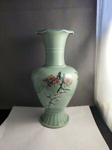Vintage-beautiful-celadon-vase-marked-and-signed