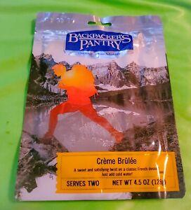 Backpacker's Pantry CREME BRULEE 4.5 oz 2 SERVINGS Camp survival Food SEALED