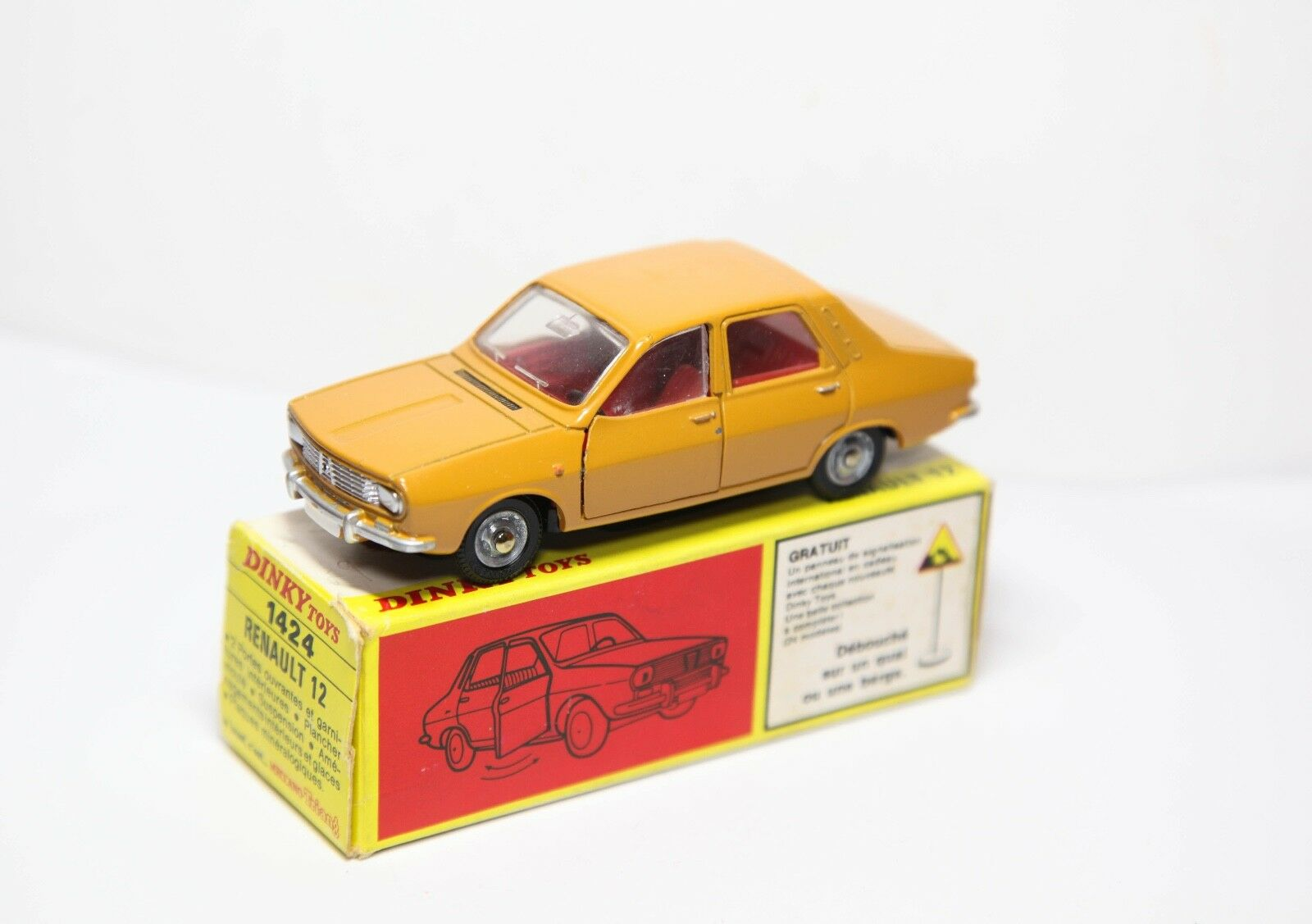 French Dinky 1424 Renault 12 In Original Box - Near Mint Vintage Original Old