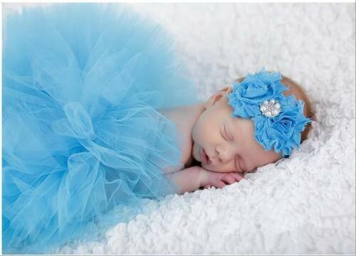 Newborn Baby Headband+Tutu Clothes Skirt Baby Girls Photography Props Outfit