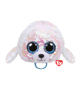 TY Beanie Boos Pinky the Flamingo with Reversible Sequins and Red Heart Tag