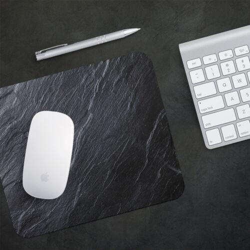 UK Seller Anti-Slip Gamimg Mouse Pad Mat PC Laptop  Black Grey Slate Cool