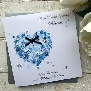 Personalised Christmas Card Husband Wife Boyfriend Girlfriend Fiance Fiancee