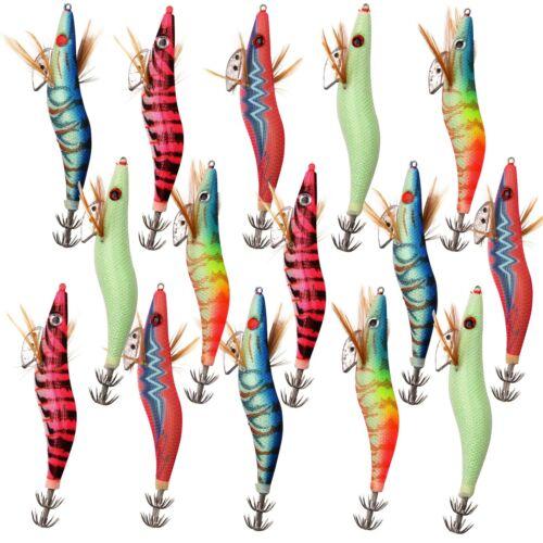 Fishing Squid Jigs Saltwater Lures Luminous Squid Bait Jig Hooks 2.5# 3.0# 3.5#