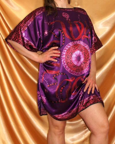 Brillant Satin Sleep shirt//chemise de nuit//tunique Taille 42-48 taille unique NEUF