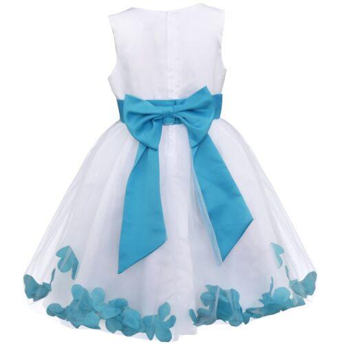 Flower Girls Princess Dress Kids Party Wedding Pageant Formal Tutu Gown Dresses