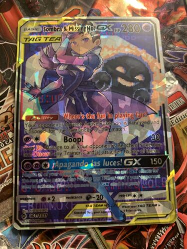 Shatter Foil! Orica Cosplay card Sombra /& MissingNo Tag Team Gx