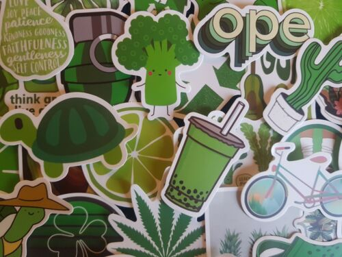 Green Nature Trip Theme Stickers 20//50 Scrapbooking Decal Adult Party Cardmaking