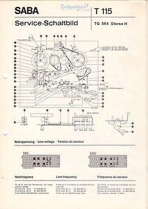 Service Manual-anleitung Für Saba Tg 564 Tv, Video & Audio