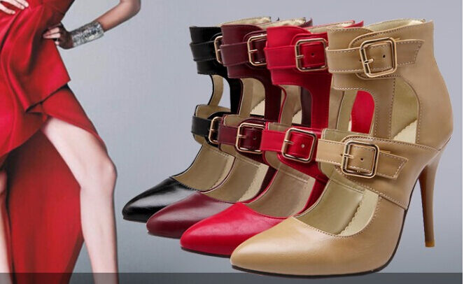 Sandals ankle boot summer woman heel stiletto 10,5 avail in 4 colours cm 8200