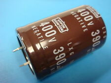 (1) 390uF 400V 105°C LXG400VN391M35X50T2 SNAP-IN EXTENDED LIFE LARGE CAPACITOR