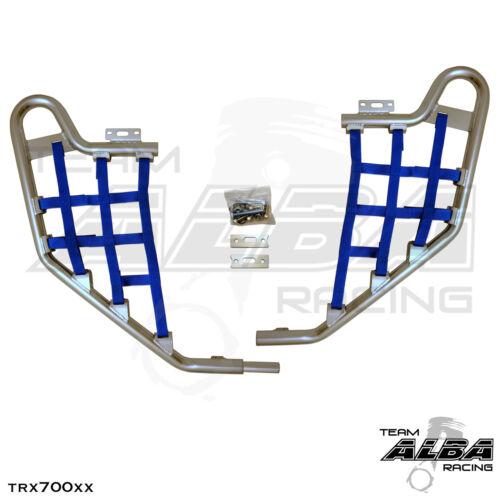 TRX 700XX  Honda   Nerf Bars  Alba Racing   Silver bar Blue nets  233 T1 SL