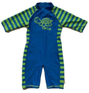 All In One Swim Suit 2-3 Years Tu Turtles Blue Green