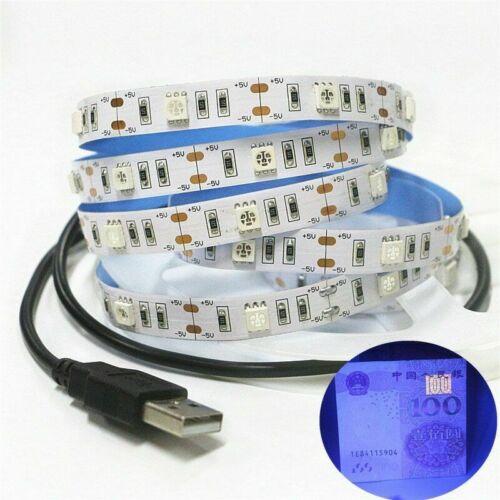5V USB UV led strip light 395-405nm 5050 60led//m Flexible blacklight string