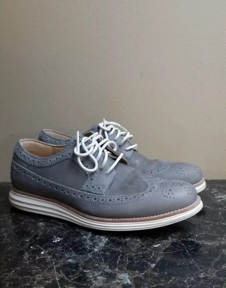 COLE HAAN LUNEGRAND Cuir Derbies long ailerons Homme Style C13974 Taille 8 M