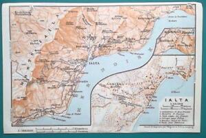 Details about RUSSIA Crimea Ialta Yalta Town City Plan & Environs - on crimea map, anapa map, stalingrad map, crimean peninsula map, gdansk map, antwerp map, hiroshima map, tehran map, ukraine map, mukacheve map, black sea map, nuremberg map, leningrad map, vichy map, riga map, sochi map, casablanca map, berlin map, caucasus mountains map, donetsk map,