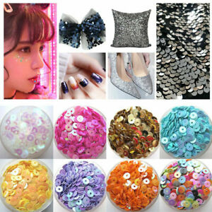 3456mm Iridescent Flat Round Loose Sequins Paillette Sewing Craft for Garment Dress Shoe Caps DIY Accessories