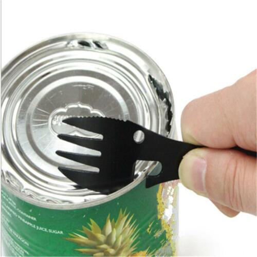 Spoons Can Opener Multifunctional Fork Spoon Hiking Kitchen Tools Corkscrew 6T