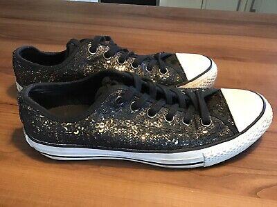 Converse All Star Gr. 38 mit Glitzer Pailletten gold | eBay