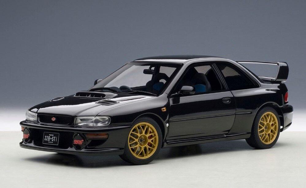 78604 Autoart 1 18 Subaru Impreza 22B noir (Version améliorée) 1998