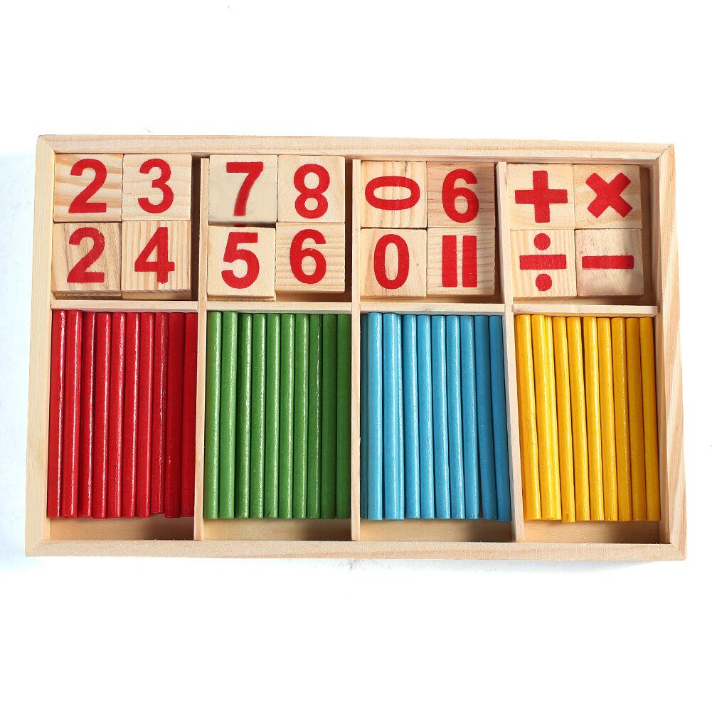 Bambino Istruzione Prescolare Numero Puzzle Educazione Fa la Conta Toy Bastone