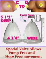 Breast Enlargement Vacuum Pump -- Dual Cup With Freedom Connectors C2d _a