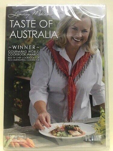 LYNDEY MILAN'S TASTE OF AUSTRALIA – 2 DVD SET, REGION 0, SEALED BRAND NEW