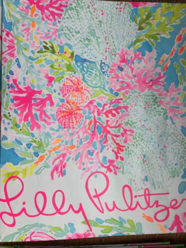 Lilly Pulitzer Medium Size Paper Shopping Gift Bags w// Pink Ribbon Handles