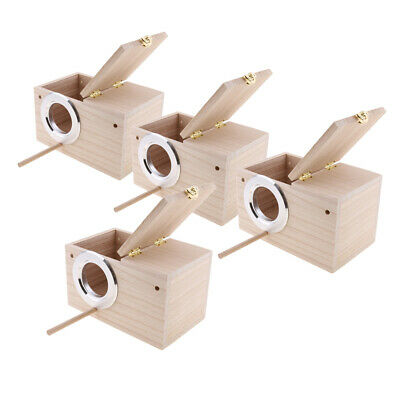 3PCS Solid Wood Budgie Nest Boxes Nesting Boxes For Budgies Birds Lovebird S