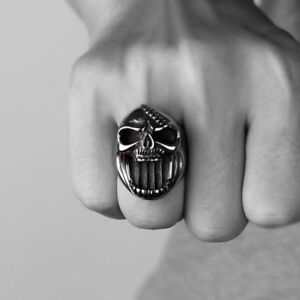 Skull-Rings-Gothic-Biker-Punk-Jaws-Stainless-Steel-For-Men-Ring-Beer-Bottle-Open