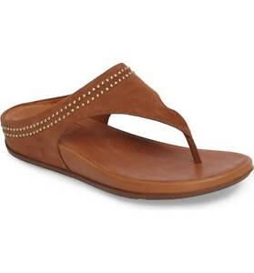 3f37a885aeff3f Image is loading FitFlop-Banda-Studded-Thong-Sandal-Tan-Suede-Women-