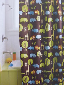 Image Is Loading New Circo Fabric Shower Curtain JUNGLE Animals 72x72