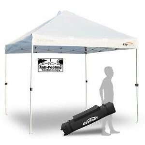 EzyFast EFAT631 10x10 Foot Outdoor Pop Up Canopy for Rain or Shine w/ Carry Bag