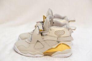 promo code 965e8 e5c93 Details about Nike Air Jordan 8 VIII Retro OG BG Boys Size 4.5Y C&C  CHAMPAGNE