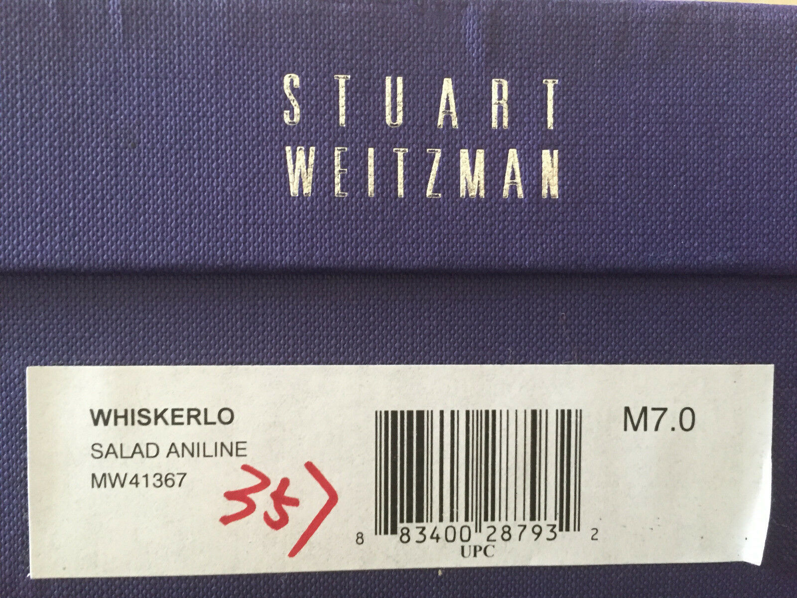 NIB Stuart Weitzman with Whiskerlo patent Flat bow Contrasting toe with Weitzman brogue 7 13b55d