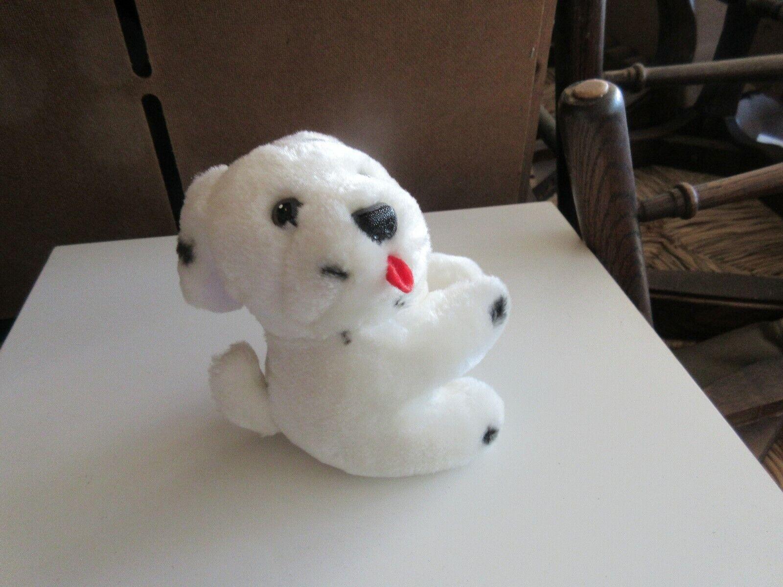 """Stuffed Dog ,Black/White ,Paws , 6"""" X 3"""" X 4"""" , Mini Do"""
