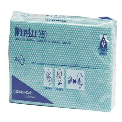 kc02089 7442 pack Of 50 Pleasant In After-Taste Wypall Green X50 Cleaning Cloths