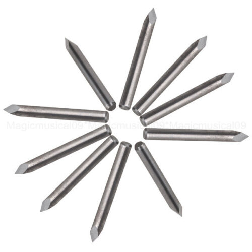 "10x Carbide Steel 60 Degree 1//8/"" CNC Router Triangular Pyramid Engraving Bits"