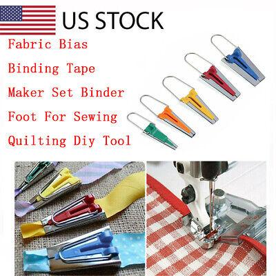 Fabric Bias Binding Tape Maker Kit Binder Foot For Sewing /& Quilting