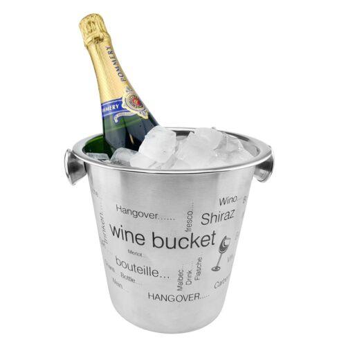 Edelstahl Flaschenkühler Eiseimer Getränkekühler Sektkühler Champagnerkühler NEU